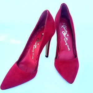 Alice & Olivia Red stilleto heels size 36